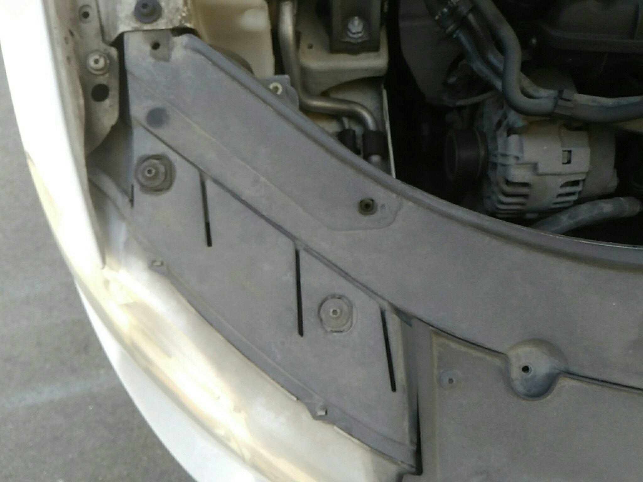 温州二手大众迈腾 > 大众迈腾 2009  车头轻微的碰撞会导致水箱框架