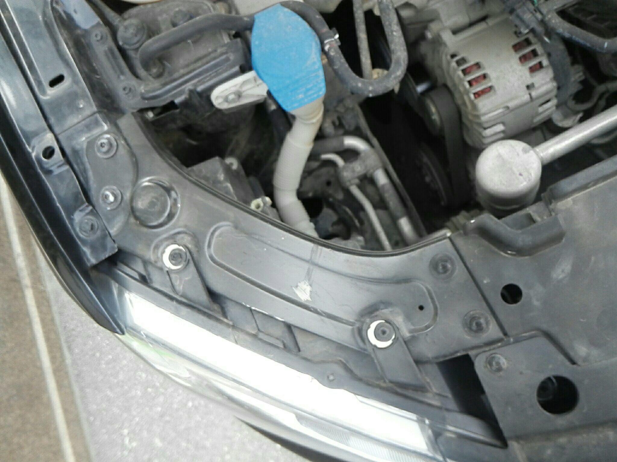 安庆二手大众朗逸 > 大众朗逸 2013  车头轻微的碰撞会导致水箱框架变