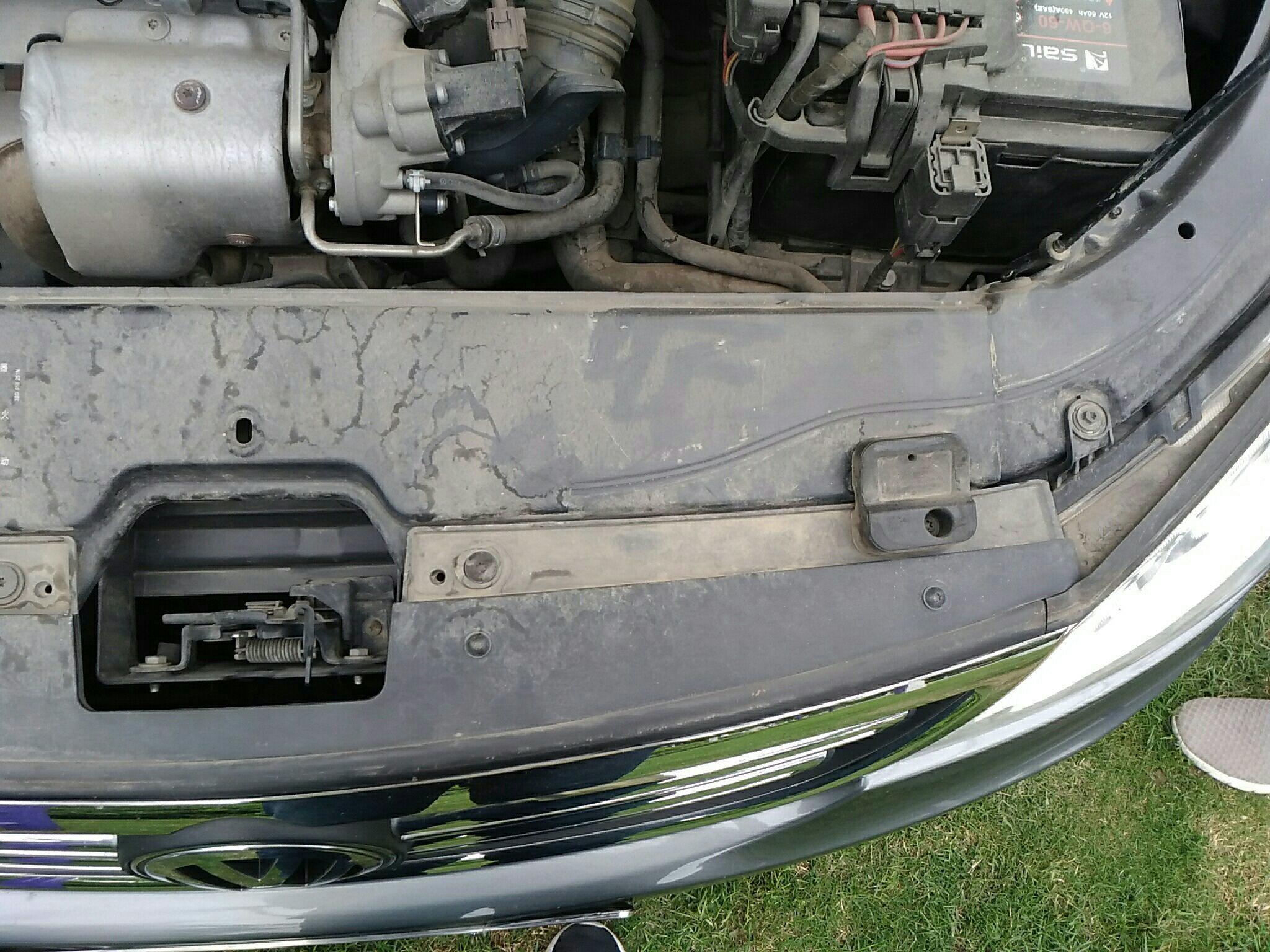 丽水二手大众朗逸 > 大众朗逸 2011  车头轻微的碰撞会导致水箱框架