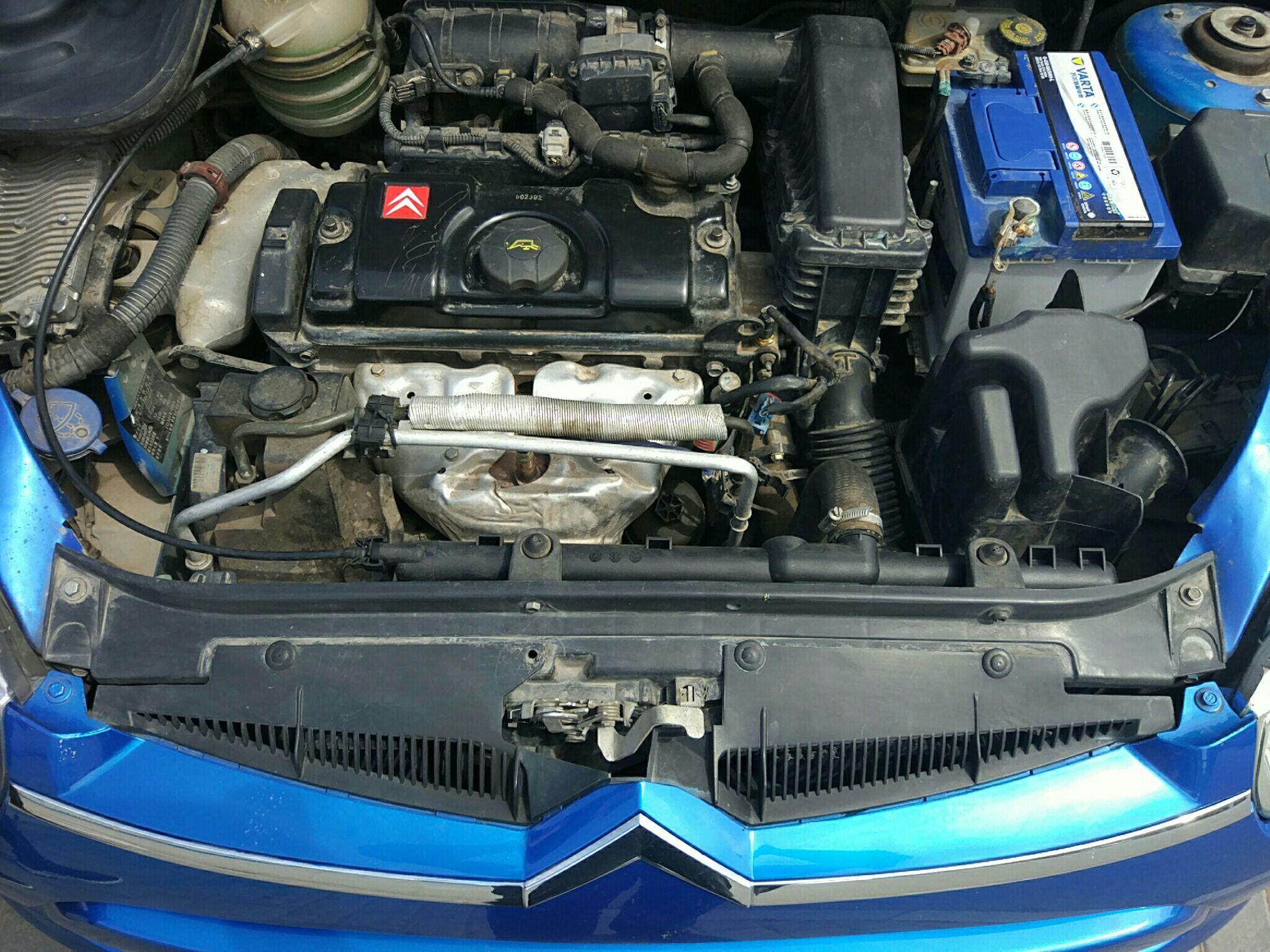 银川二手雪铁龙雪铁龙c2 > 雪铁龙c2 2012  车头轻微的碰撞会导致水箱